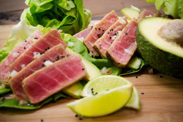 Receta de ensalada de atún sellado