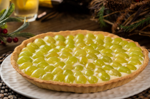 Receta de tarta de queso y uvas