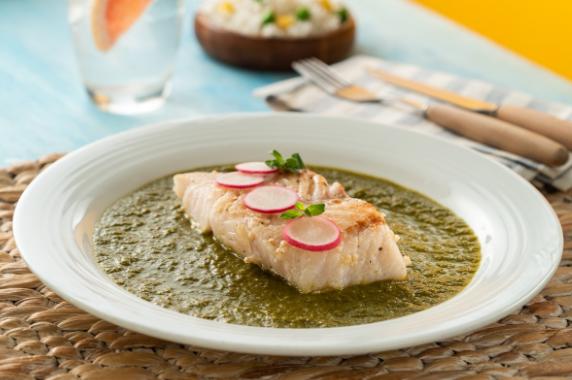 Receta de pescado con salsa verde