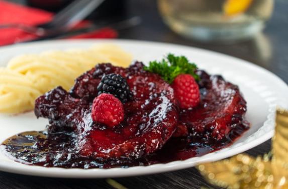 Receta de chuleta de cerdo en glaseado de frutos rojos y habanero